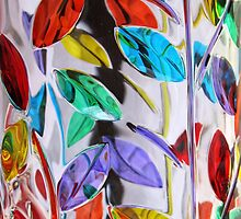 Glass Leaves on Glass by Darlene Lankford Honeycutt