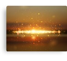 Abstract colorful bokeh background Canvas Print