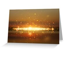 Abstract colorful bokeh background Greeting Card