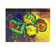 Star Agates gold-colored Art Print