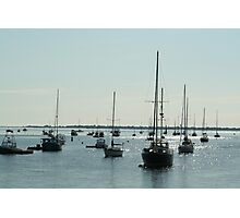 Diamond water boats Photographic Print