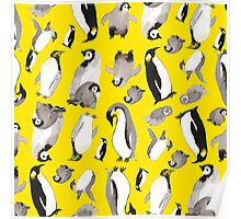 Yellow Penguin Potpourri Poster
