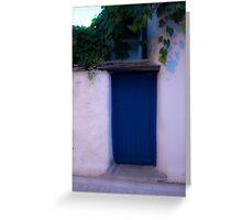 BLUE DOOR. Greeting Card