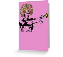 Flower power girl Greeting Card