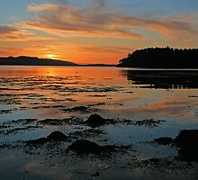 Loch Ewe Sunset by Derek Fogg