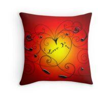 heart swirl Throw Pillow