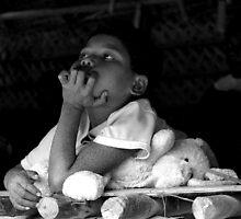 Orang Asli: Pondering - Taman Negara, Malaysia - 2009 by Nicole Cultraro