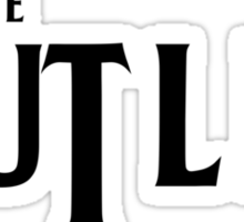Rutles Logo (Black Writing) Sticker