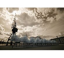 Docklands in IR Photographic Print