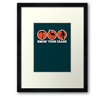 Know Your Crane Framed Print
