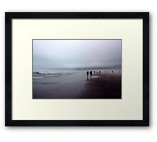 Arcadia Beach Fog Framed Print