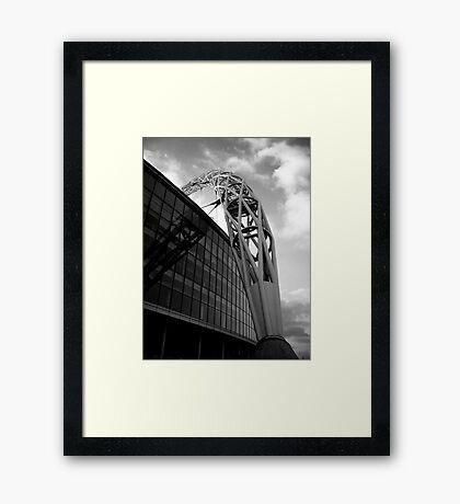 Wembley Stadium - Arch (Black & White) Framed Print