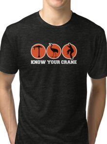 Know Your Crane Tri-blend T-Shirt