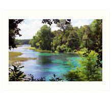 Rainbow Springs Art Print