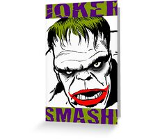 JOKER SMASH Greeting Card