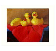 Three Rubber Ducks #3 Art Print