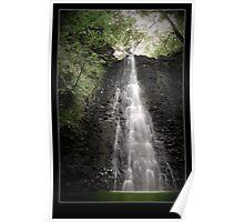 Falling Foss Waterfall Poster
