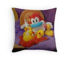 Friends #1: Stimpy and Rubber Ducks Throw Pillow