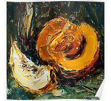 Space food. Pumpkin. Poster