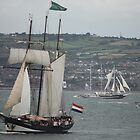 Oosterschelde and Capitan Miranda - Tall Ships Belfast by Philip Bateman