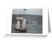 Oosterschelde and Capitan Miranda - Tall Ships Belfast Greeting Card