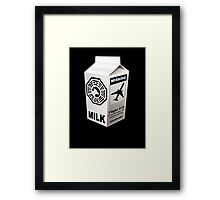 Dharma Initiative Missing Milk Framed Print