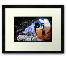 Rivers in the Desert Framed Print