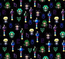 Sailor Moon Outer Senshi - Black by uenki