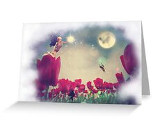 Fairy and Tulips Greeting Card