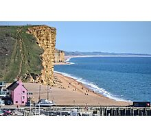 West Bay Beach, Dorset Photographic Print