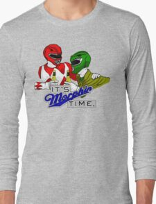 """Mighty Morphin' Power Rangers (Jason & Tommy) """"It's Morphin Time"""" Long Sleeve T-Shirt"""