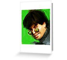 shahrukh khan portrait of bollywood superstar Greeting Card