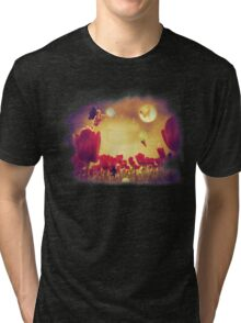 Fairy and Tulips 2 Tri-blend T-Shirt