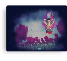 Fairy and Tulips 3 Canvas Print