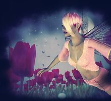 Fairy and Tulips 4 by AnnArtshock