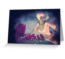 Fairy and Tulips 4 Greeting Card