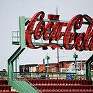 Coca Cola Sign Fenway Park, Boston MA by Rebecca Bryson