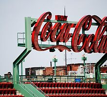 Coca Cola Sign Fenway Park, Boston MA by Rebecca Bryson