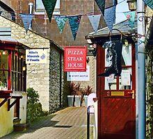Small Side Street In Lyme Regis by lynn carter