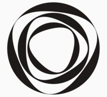 Black and white circular shape by Smaragdas
