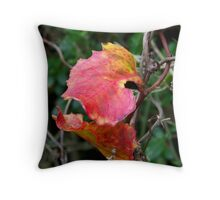 Frustrated Red Throw Pillow