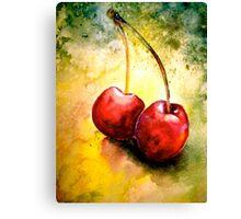 Cherries..Two... Canvas Print