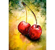 Cherries..Two... Photographic Print