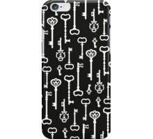 Victorian black & white Keys iPhone Case/Skin