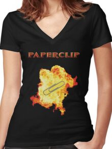 MacGyver's Famous Multitool Women's Fitted V-Neck T-Shirt