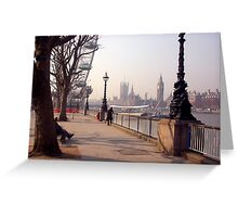 River Thames. Lomdon Greeting Card