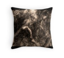 Study in Light and Shadow: Lush Foliage and Tangled Branches in Black and White #2 Throw Pillow