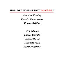 How to get away with murder Photographic Print
