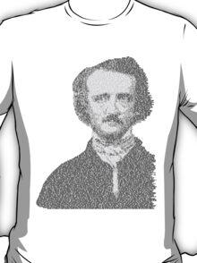 Edgar Allen Poe Text Portrait T-Shirt