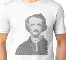 Edgar Allen Poe Text Portrait Unisex T-Shirt